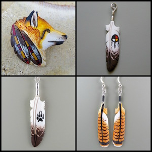 Bone Feather Jewelry